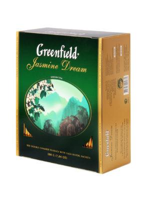 Greenfield – thé vert aromatisé Jasmin Dream – 100 sachets
