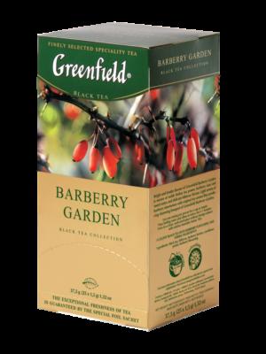 Greenfield – Thé noir aromatisé Barberry Garden – 25 sachets