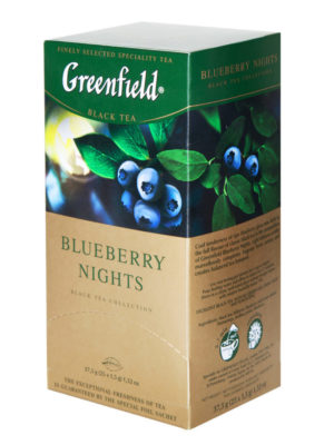 Greenfield Blueberry Nights – thé noir aromatisé – 25 sachets