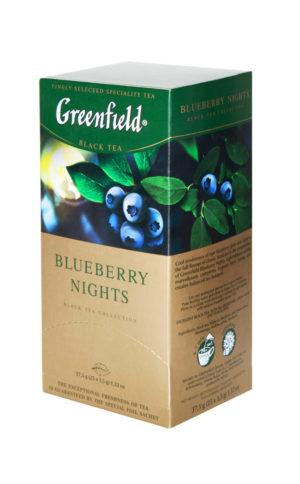 Greenfield Blueberry Nights - thé noir aromatisé - 25 sachets