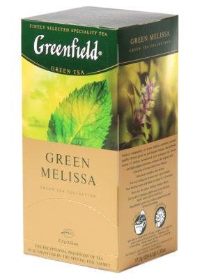 Greenfield – Thé vert aromatisé Green Melissa – 25 sachets