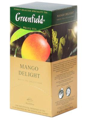 Greenfield – Thé vert aromatisé Mango Delight – 25 sachets