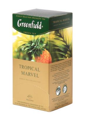 Greenfield – thé vert aromatisé Tropical Marvel – 25 sachets