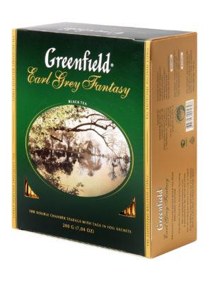 Greenfield – thé noir aromatisé Earl Grey Fantasy – 100 sachets