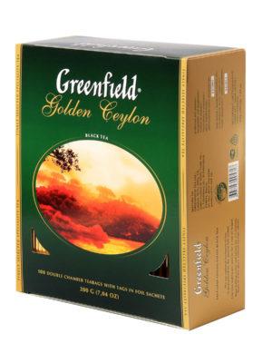 Greenfield – Thé noir Golden Ceylon – 100 sachets