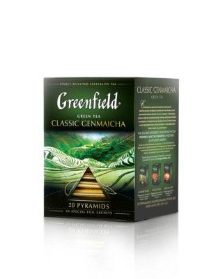 Greenfield – Thé vert aromatisé Classic Genmaicha – 20 pyramides