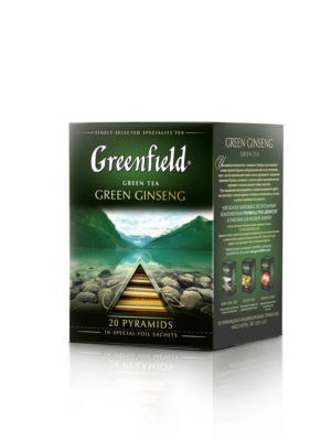 Greenfield – Thé vert aromatisé Green Ginseng – 20 pyramides