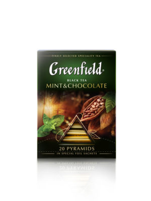 Greenfield – Thé noir aromatisé Mint Chocolate – 20 pyramides