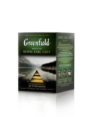 Greenfield – Thé noir aromatisé Royal Earl Grey – 20 pyramides