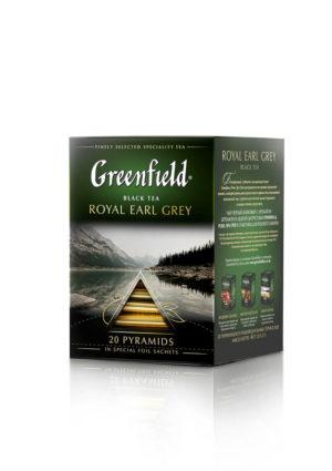 Greenfield - Thé noir aromatisé Royal Earl Grey - 20 pyramides