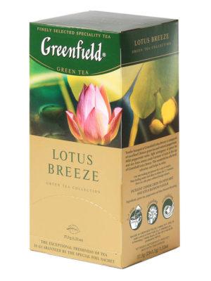 Greenfield – Thé vert aromatisé Lotus Breeze – 25 sachets