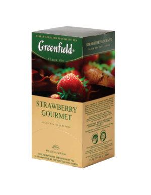 Freenfield - Thé noir aromatisé Strawberry Gourmet - 25 sachets