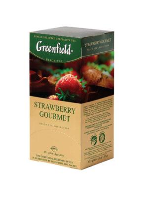 Freenfield – Thé noir aromatisé Strawberry Gourmet – 25 sachets