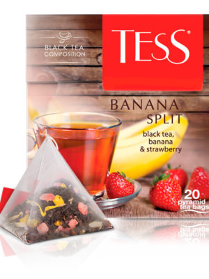 Tess – Thé noir aromatisé Banana Split – 20 pyramides
