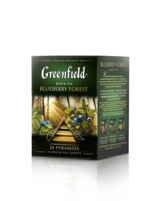 Greenfield – thé noir aromatisé Blueberry Forest – 20 pyramides