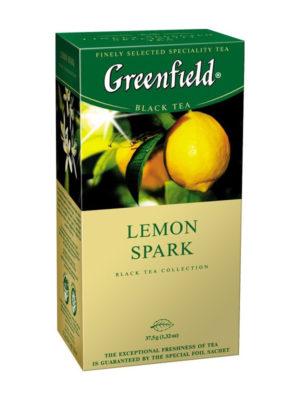 Greenfield – Thé noir aromatisé Lemon Spark – 25 sachets