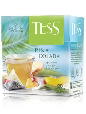 Tess – Thé vert aromatisé Pina Colada – 20 pyramides