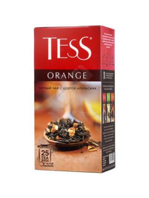 Tess – Thé noir aromatisé Orange – 25 sachets